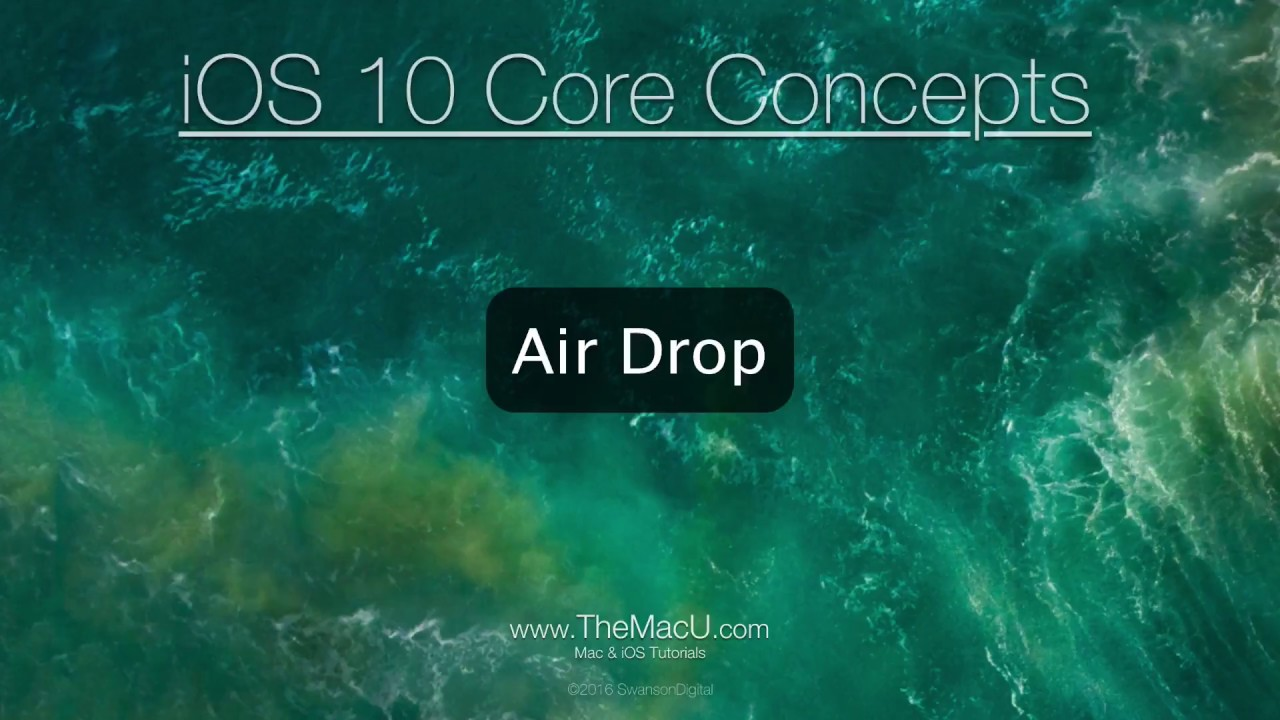 Airdrop Tutorial: How To Use Airdrop To Move Files Between Your Ipad,  Iphone And Mac!