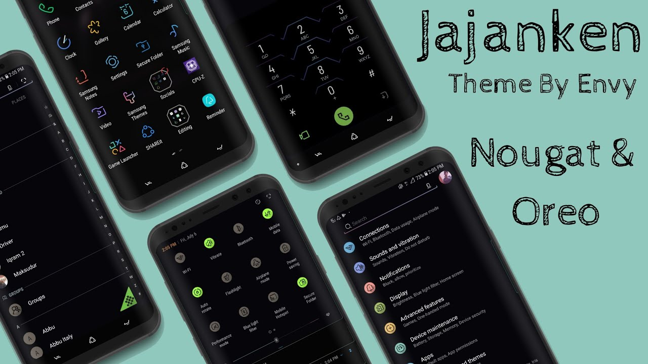 Samsung Custom Dark Theme : Jajanken By Envy || Oreo/ Nougat Supported 2018