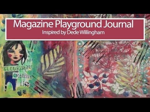 Magazine Playground Journal Inspired by Dede Willingham