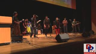 "Students singing Hindi song at UTA Indian Culture Council (ICC) event ""Swaagat"""