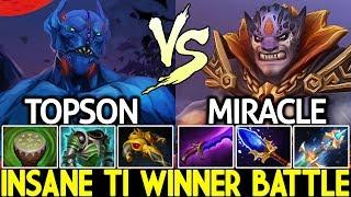 Miracle- Lion VS TOPSON Nightstalker   Insane TI Winner Battle 7.21 Dota 2