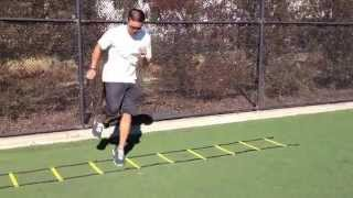 Ladder Drills: 1 Ft Lateral Zig Hops | Sweat City Athletic Performance Training