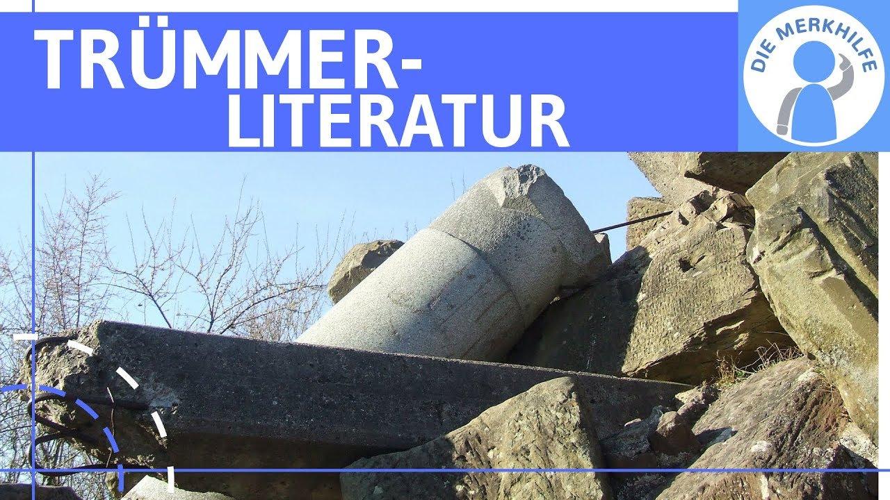 Literatur Der Nachkriegszeit Trümmerliteratur Literaturepoche Einfach Erklärt Merkmale