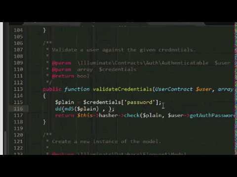 Laravel - How to change Hash password to Md5 password