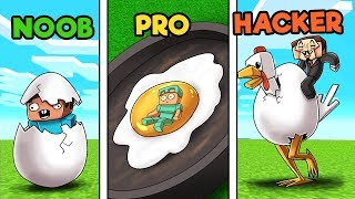WORLD RECORD EGG in minecraft! (Noob vs Pro vs Hacker)