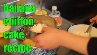 簡単バナナシフォンケーキの作り方banana Chiffon Cake Recipe