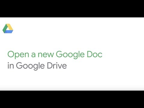 Open a new Google Doc in Google Drive