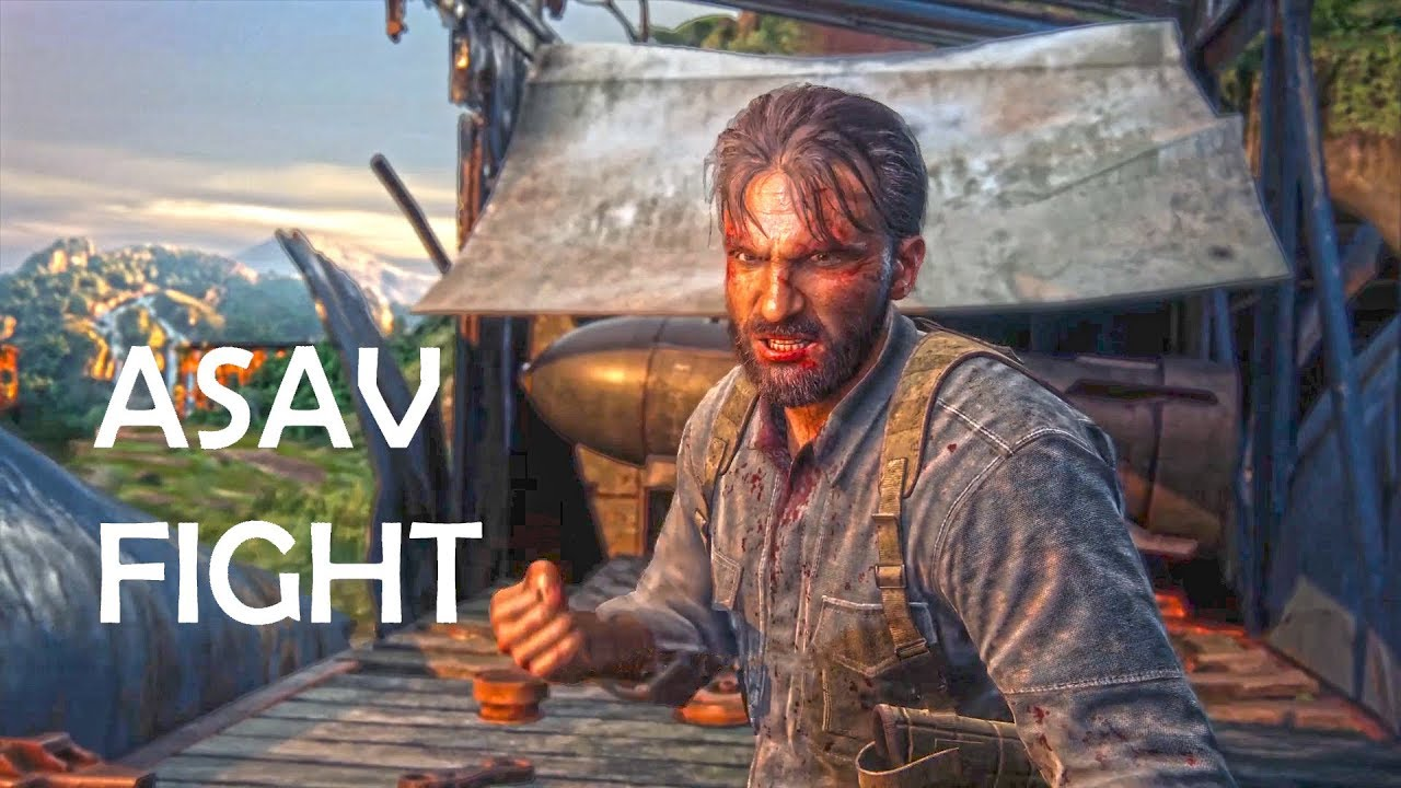 uncharted lost legacy asav fight