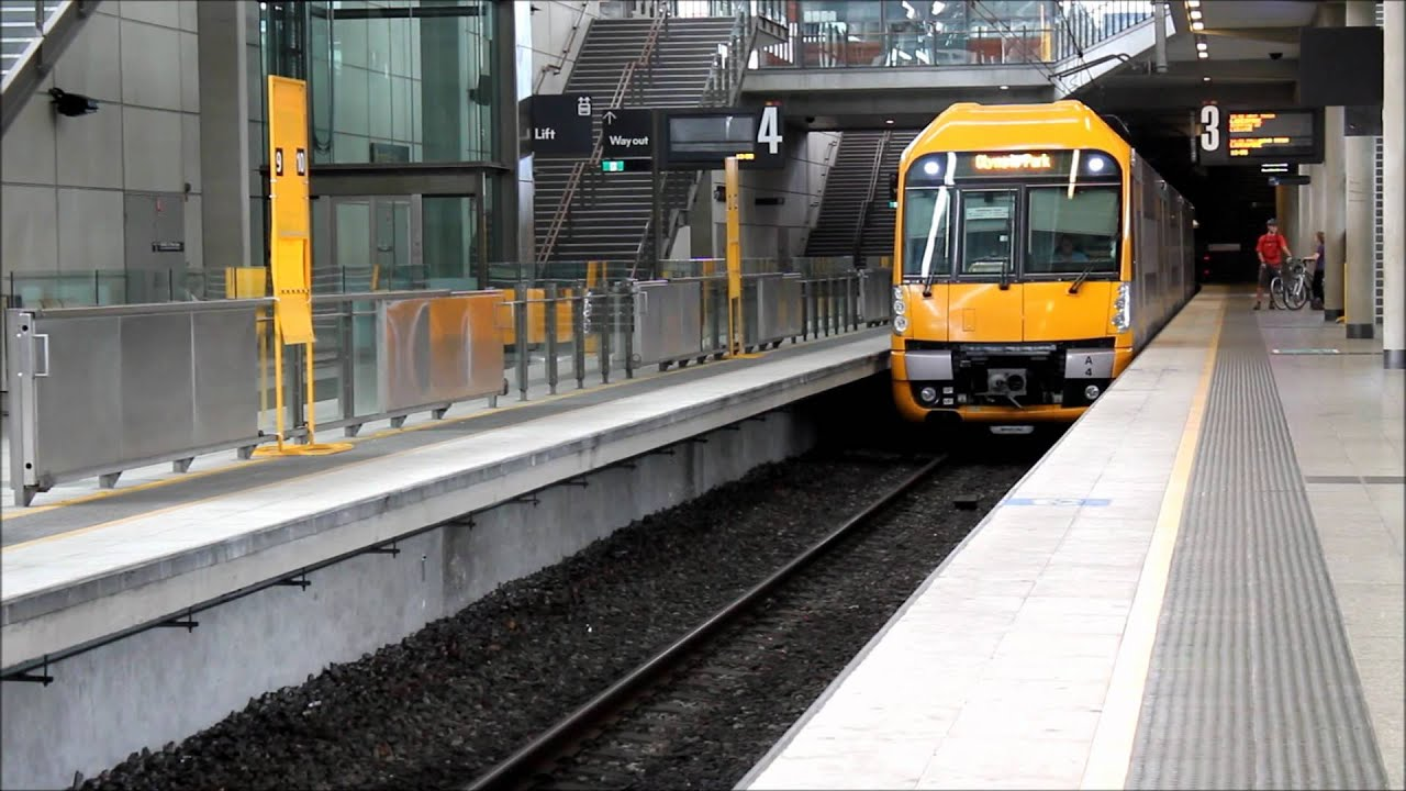 CityRail A Set Waratah Train Arriving At Olympic Park Station