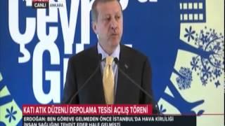 Başbakan Erdoğan. Katı Atık Düzenli Depolama Tesisi Açılış Töreni konuşması [HD]