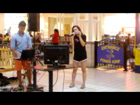 Karaoke at the mall!! So nervous!!