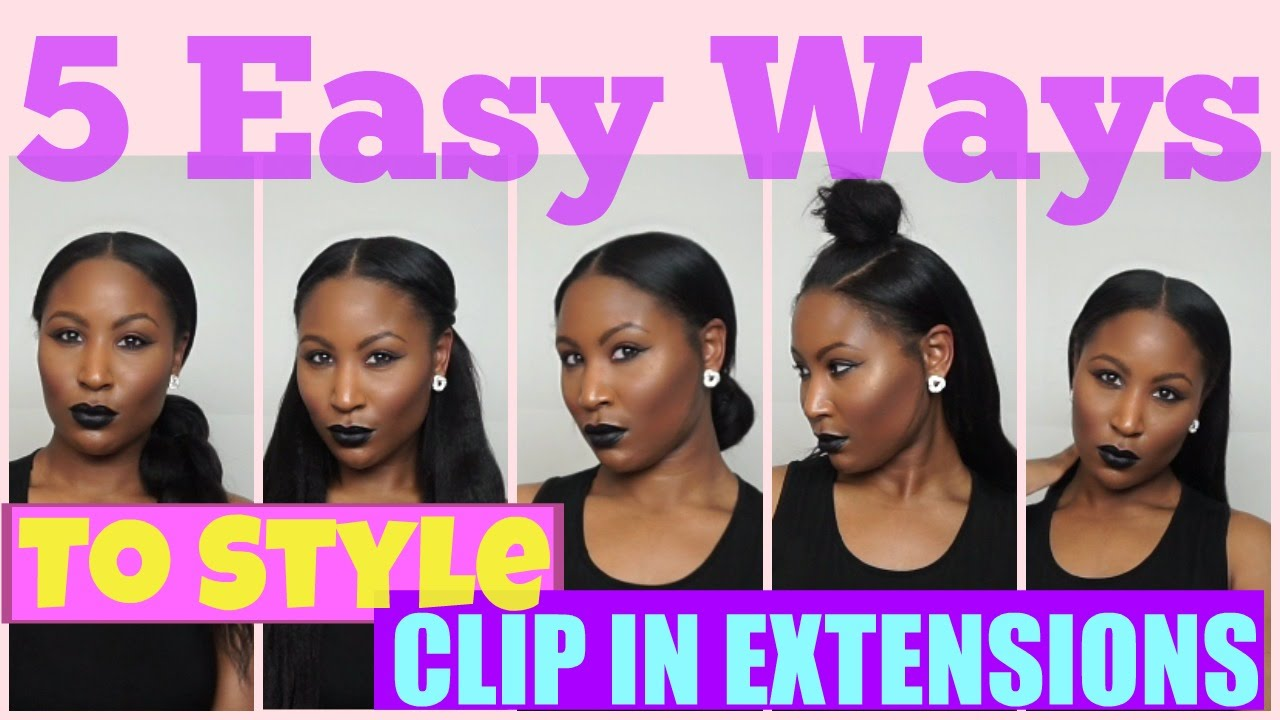 5 easy ways to style your clip in extensions on natural hair 5 easy ways to style your clip in extensions on natural hair knappy hair extensions youtube pmusecretfo Images