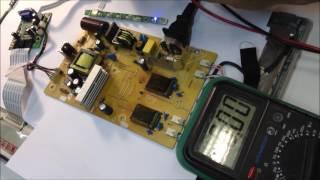 Ремонт монітора LG w1934s. Монітор не включається. Діагностика і ремонт.