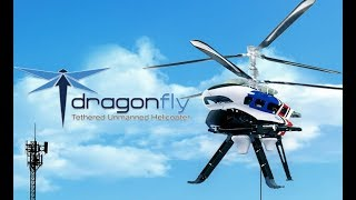 CES 2018 Thunder Tiger The DragonFly LTE helicopter aka AT&T Cell on Wings (Flying COW) TTRobotix