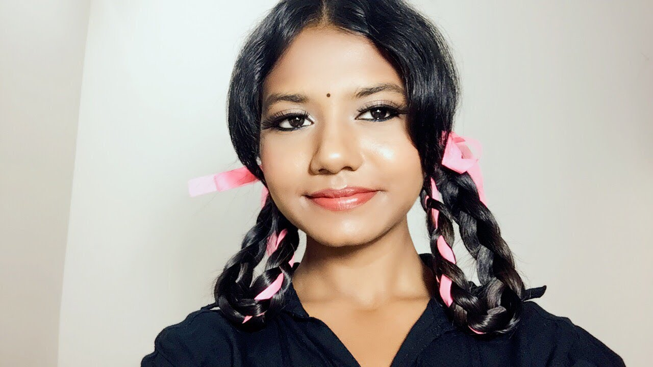 indian school girl hairstyle