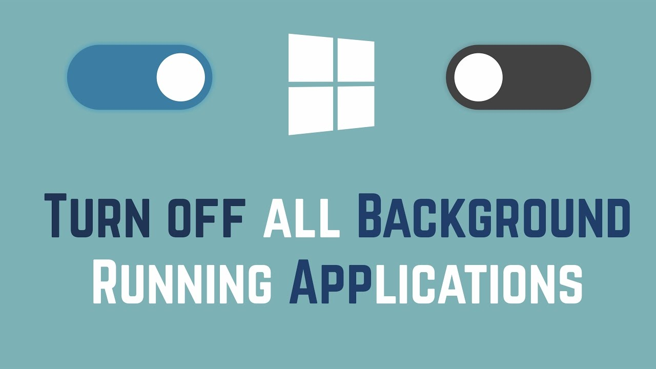 how to close background apps