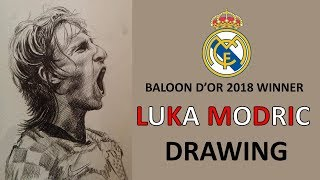 Best player of the year 2018 by FIFA - Luka Modric Drawing