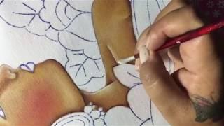 Pintura En Tela Vendedora De Flores # 1 Con Cony