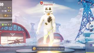 MY NEW DJ MARSHMALLOW SKIN AT FORTNITE