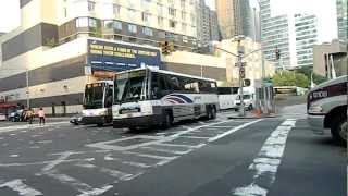 Commuter & Coach Buses Entering/Exiting 42 Street-Port Authority Bus Terminal New York, New York