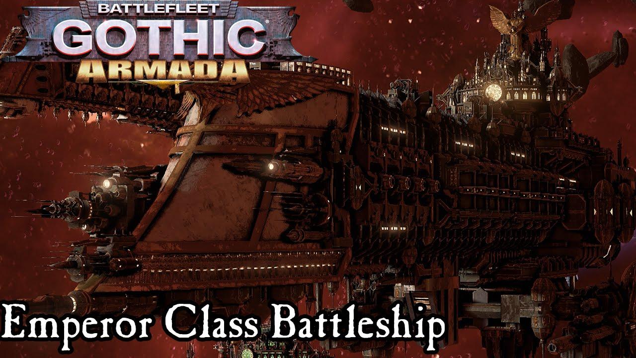 Watching Endless Armada Entering >> Emperor Class Battleship Gameplay Battlefleet Gothic Armada Youtube