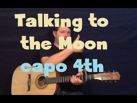 Talking To The Moon (Bruno Mars) Guitar Lesson Easy Strum Chord How to Play Tutorial