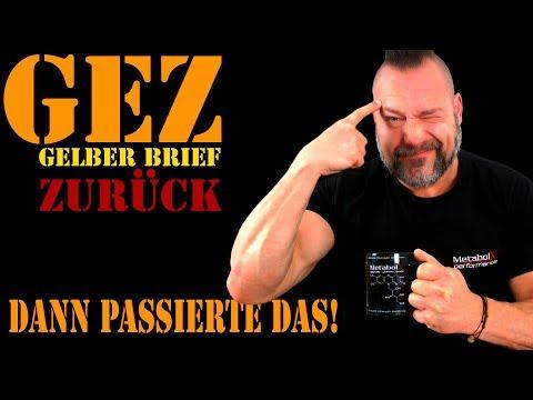GEZ - Gelben Brief zurück zum NDR UND das passierte dann!