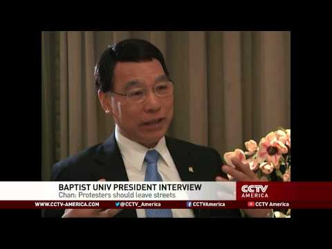 Hong Kong university president tells students to end protest