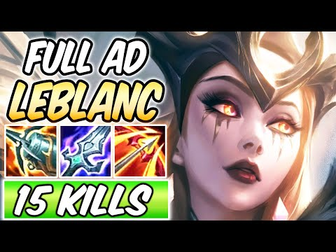 FULL AD LEBLANC MID GAMEPLAY | Coven LeBlanc | New Build & Runes | League of Legends | Season 11