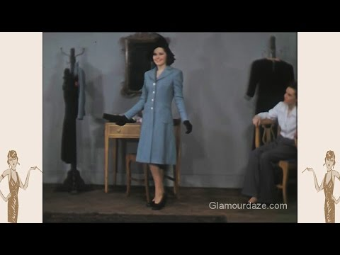 1940s American Fashion - Colour Film 1942