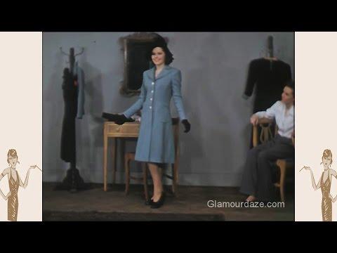 1940s American Fashion - Colour Film 1942