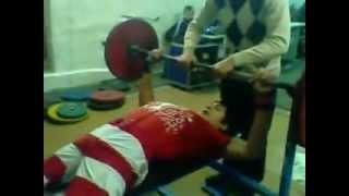 Мухамед Балаев! Жим лёжа 92,5 кг. (г.Тайынша)