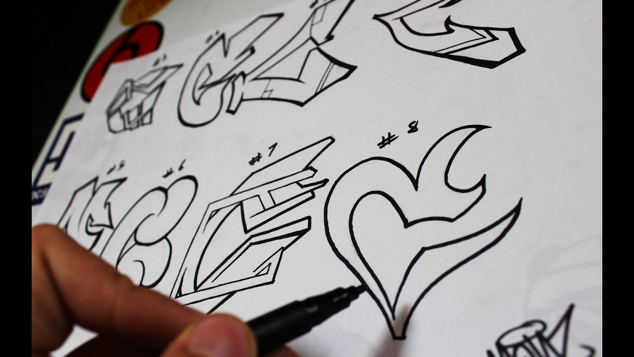 Graffiti Alphabet Practicando La Letra C