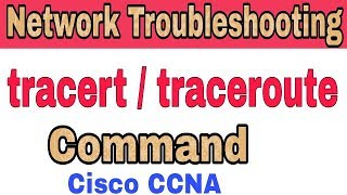 CCNA Network Troubleshooting - Traceroute Tracert Command in [Hindi/Urdu]