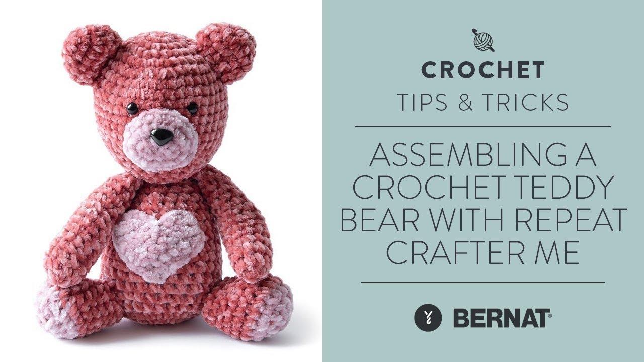 Crochet Teddy Bear Written Pattern and Video | 720x1280