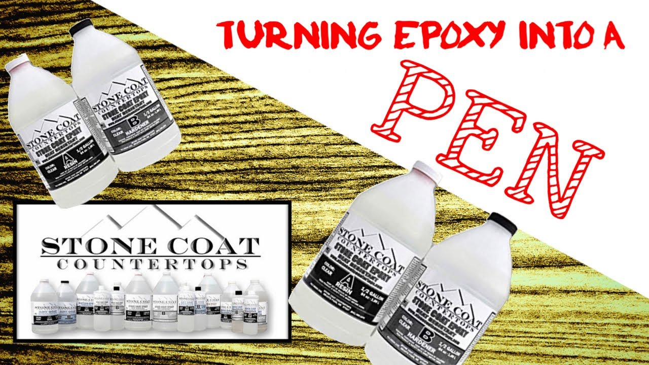 StoneCoat Countertops turning Epoxy into a pen