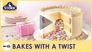 Pinata Birthday Cake Recipe Demonstration - Bake With Stork