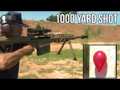 1000 yd Standing Barrett 50 cal quick scope shot in 2 seconds record by Jerry Miculek!