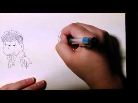 おそ松さん一松を描いてみた Youtube