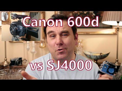 SJ4000 WiFi vs Canon 600d / T3i Video Test Comparison, Action Cam vs dSLR