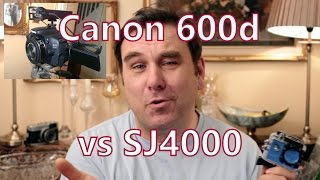 SJ4000 WiFi vs Canon 600d / T3i Video Test Comparison, Action Cam vs dSLR(A quick comparison video of the SJCAM SJ4000 vs my Canon 6ood / T3i dSLR, in sunny conditions and indoors under tungsten lights. Thanks, Rob., 2015-01-04T18:50:37.000Z)