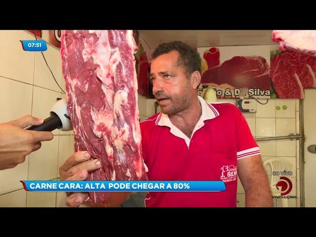 Chega a 80% o aumento no preço da carne