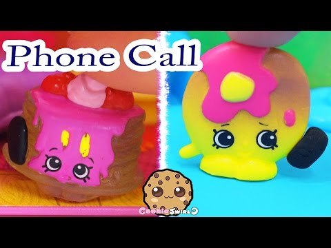 Shopkins Season 4 Play Video - Phone Call - Toy Series Part 5 Cookieswirlc