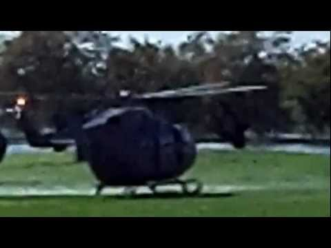 US Army Lakota Light Helicopter Arriving at Ft. McNair