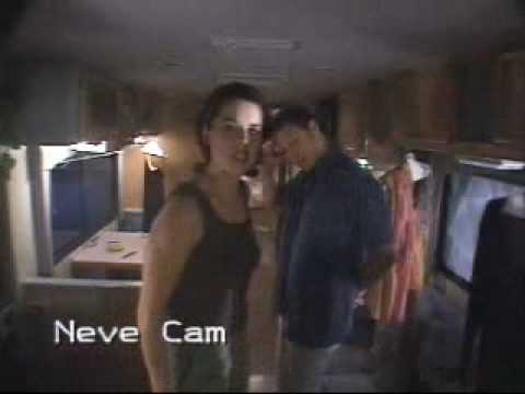 Neve Campbell Secret Cam  - Promotion for Three To Tango