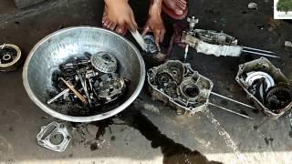 Hero Splendor Full Engine Service   Piston Crankset Change   Bike Serivce