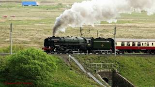 """BR 70000 """"Brittania"""" back on Shap with """"The Lakelander"""" Tour."""