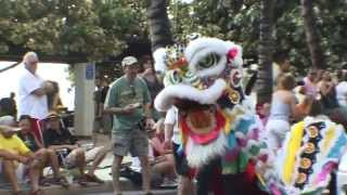 CHINESE INFLUENCE IN HAWAII, (DRAGON DANCE) USA