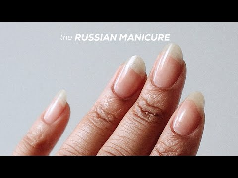 RUSSIAN MANICURE AT HOME  The DIY Dry Manicure