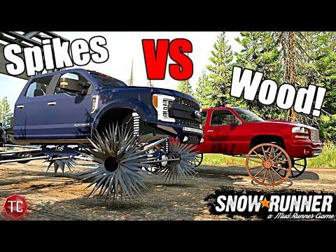 SnowRunner: SPIKE WHEELS vs WAGON WHEELS!  